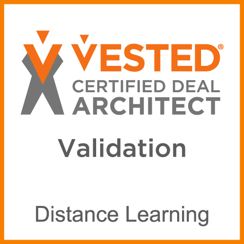 Vested certified deal architect validation. Distance learning.